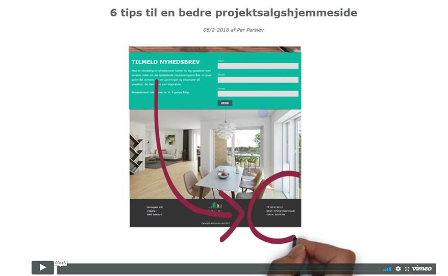 6 tips til projektwebsite